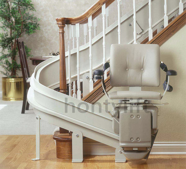 Ce old person and painting use stair chair lift buy for Motorized chair for stairs cost