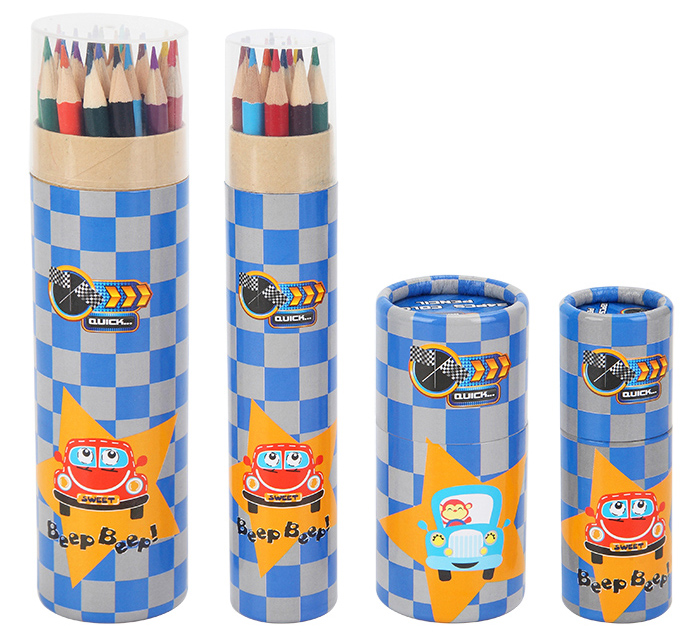 INTERWELL WPC959 Colour Pencil Set, Bambini Personalizzate Matite Colorate di Legno Set 12