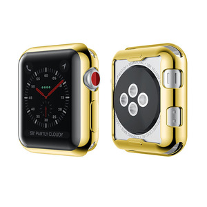 Shiny Rose Metal Electroplating Cover Case For Apple Watch Housing,Protective Mobile Housing For Apple Watch Hard Case