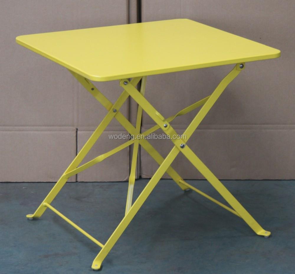 Garden Furniture Steel Metal Folding Side Dining Table Buy Modern Folding D