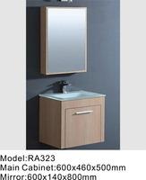 wood color bathroom cabinets,best quality bathroom furniture for distributor RA323
