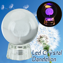Facebook Hot Sale Lampu LED Indah 3D Dandelion <span class=keywords><strong>Bola</strong></span> <span class=keywords><strong>Kristal</strong></span> Warna-warni Lampu LED Dandelion <span class=keywords><strong>Bola</strong></span> <span class=keywords><strong>Kristal</strong></span> untuk Dekorasi Rumah