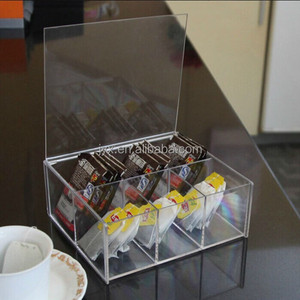 Clear acrylic packaging boxes/clear acrylic tea bag storage box for sale