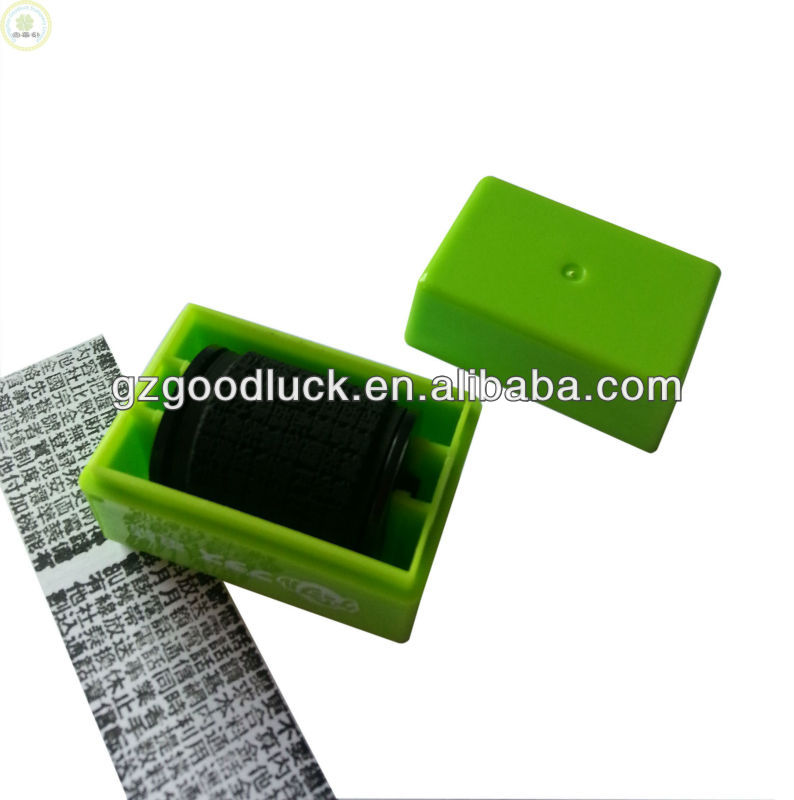 Roller ID Guard Roller Stamp/Rubber Rolling Stamper/Data Protection Roller Stamp