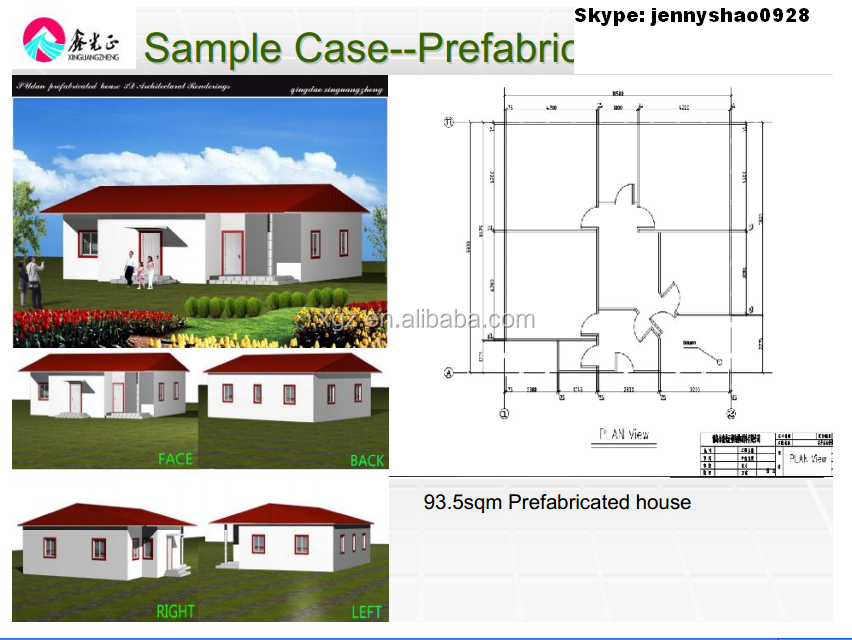 China High Quality Modern Modular Prefab Villa House Design