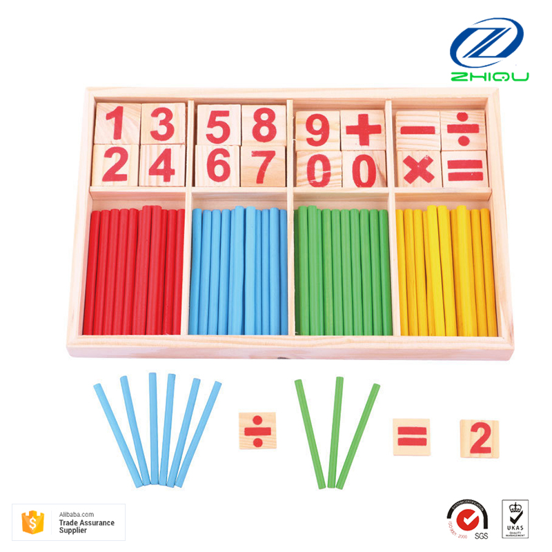Cunting sticks for kids educational math learning toys kids wooden toys