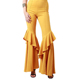 Euramerican Spring and Autumn new style women's fashionable high waist ruffles flare pants stage trousers
