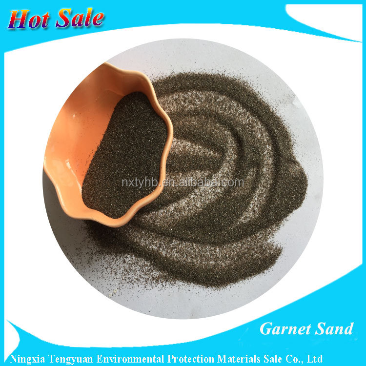 China Factory of 30/60 Sand blasting garnet sand abrasive