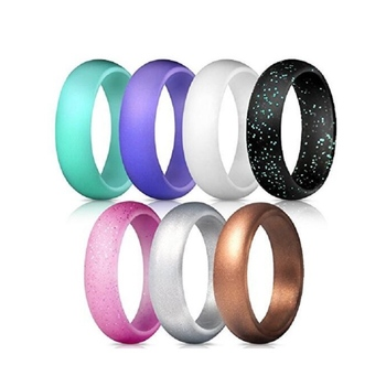 Custom Jewelry Colored Sport Band Wedding Silicone Rubber Finger Rings