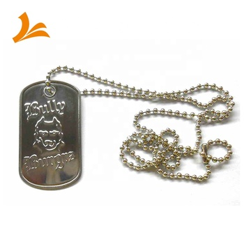 Rolled edge stainless steel military dogtags