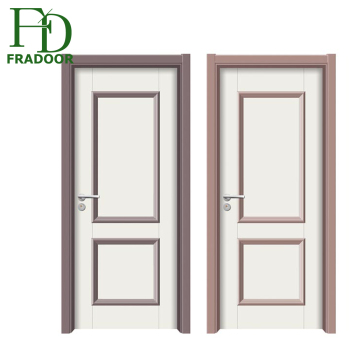 Modern Styles 1 5hours Anti Fire Wooden Vision 2 Panel Interior Doors