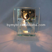glass angel candle holder