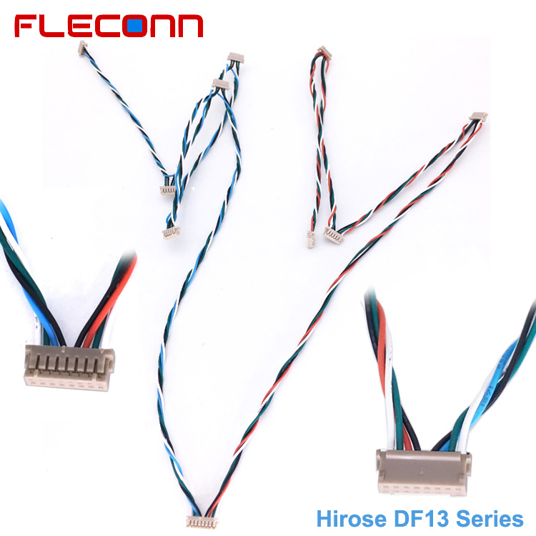 Hirose DF13 Series 8 Pin Connector Wire Harness