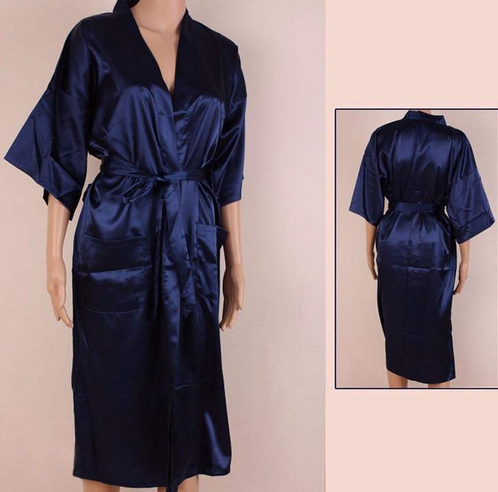 1c244211945 Chinese Women s Traditional Silk Satin Robe Gown Sexy Lingerie with Belt Summer  Lounge Nightgown Sleepwear Plus