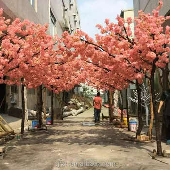 Beautiful Artificial Cherry Blossom Tree Arch Forwedding Decoration