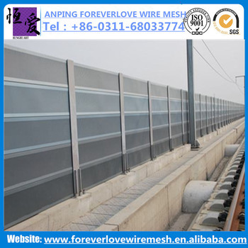 Highway/railway use soundproof materal sound barrier noise barrier