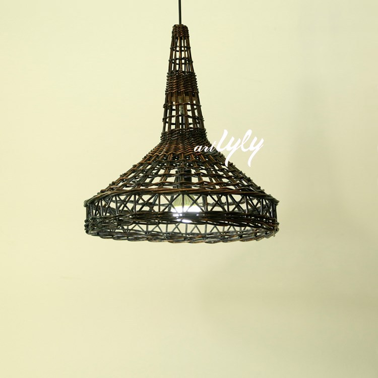 2015 New Material Eiffel Tower Wicker Lamp Shade Banker