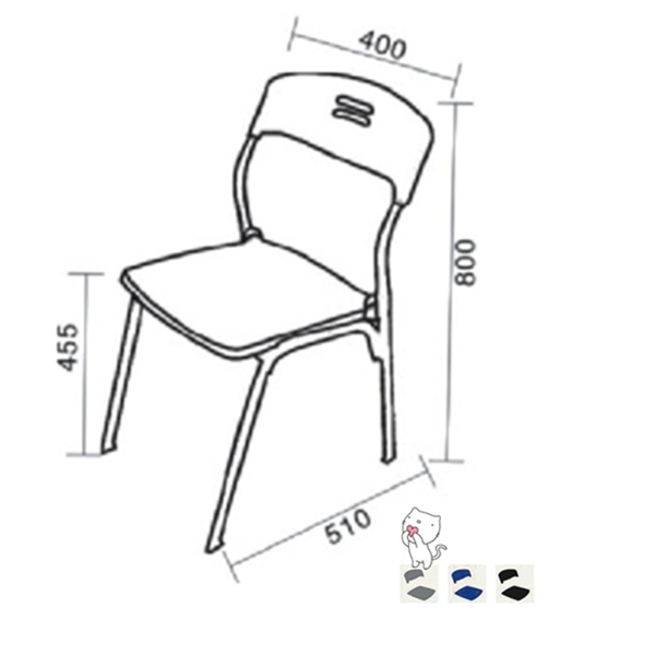 New School Chair Design Simple Type Plastic Chair Cheap Furniture