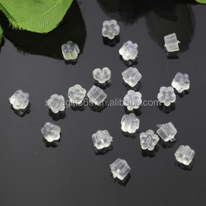 Clear Rubber Flower Earring Stud Back Earring Stopper For Jewelry Diy