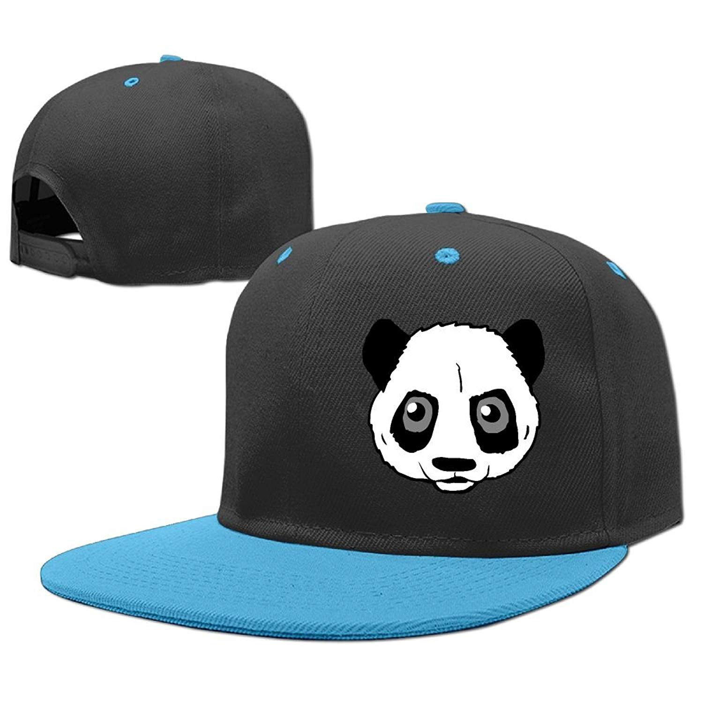 ccd9dcd672c Get Quotations · Kids Big Panda Head Adjustable Hip Hop Baseball Hat Custom  Cap for Children