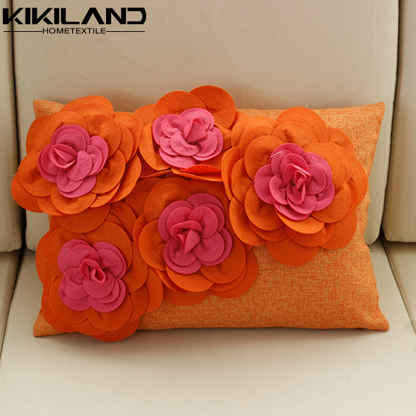 Spring New Design Sofa Pillow 3d Handmade Floral Cushion Covers