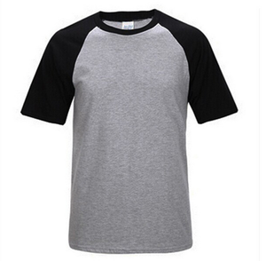 High Quality Ombre Cotton Blank Fitted Reversible Plain White T-Shirt For Garment