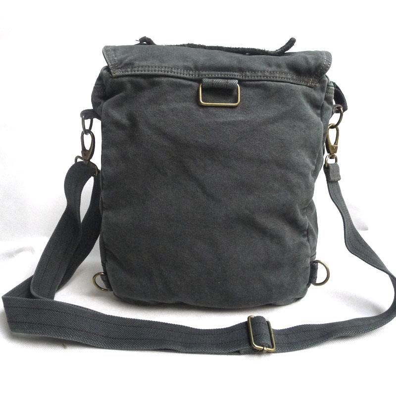 6113 Multi-purpose Grey Stonewashed Thick Canvas Shoulder Backpack ...