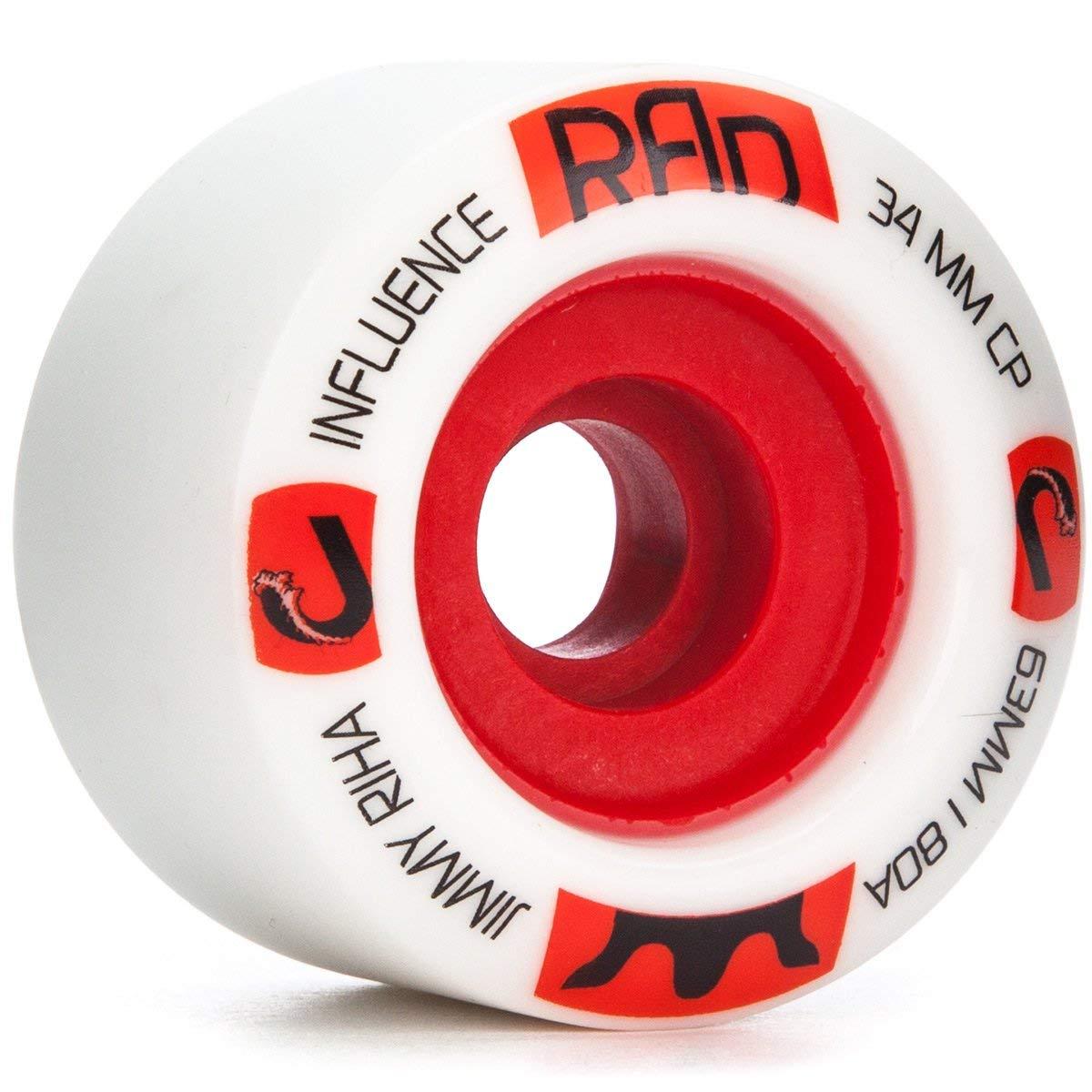 RAD Influence Jimmy Riha Pro Longboard Wheels - 63mm 80a
