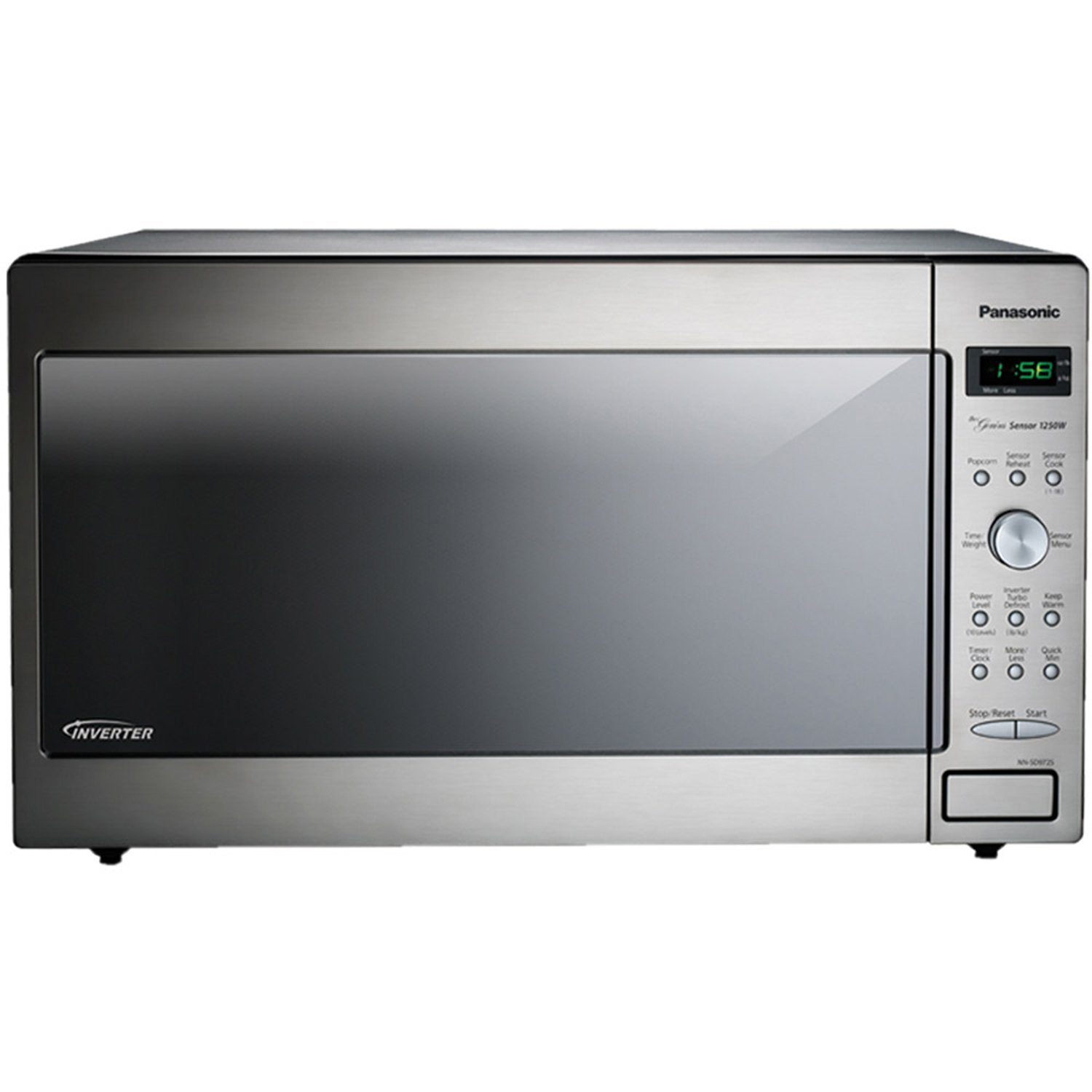 Get Quotations Panasonic Nn Sd972s Stainless 1250w 2 Cu Ft Countertop Built In