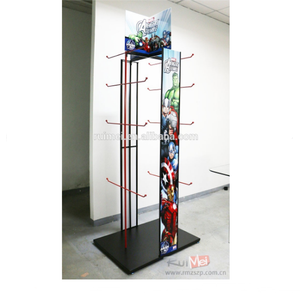 Practical Metal Wire Backpack Display Stand With Hooks