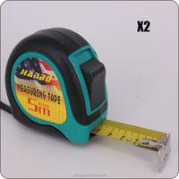 high quality new design UV chrome metal belt clip height measuring tool measuring tape