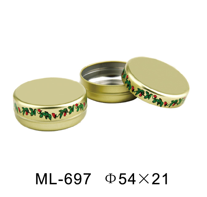 Hot selling customized round candle tin / round shape wax tin box