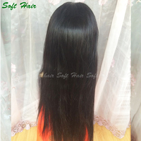 Factory direct price men overnight delivery lace wigs, 100 percent human hair lace front wigs with bangs
