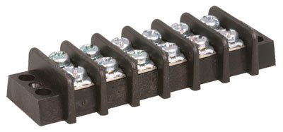 Jameco Valuepro GGE-20-6P-R Terminal Block, Connector, Barrier Strip, 6 Position, Straight, Panel Mount, 20 Amp, 22 mm W x 13.2 mm H (Pack of 3)