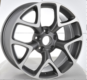 F9771 HYPER SILVER CAR ALLOY WHEEL RIMS 17X7.5 18X8.0 40MM AND 42MM OFFSET WHEEL