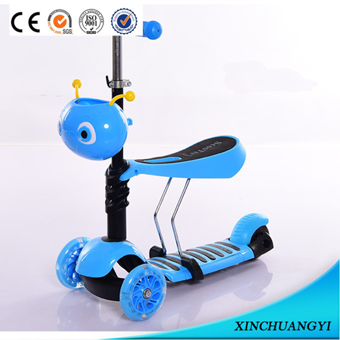 Factory wholesale cheap price hot selling 3 wheel kids scooter, pro scooter baby scooter 3 in1