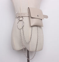 Mihaivina Женская поясная сумка, кожаная женская поясная сумка с цепочкой, модная поясная сумка, Женская поясная сумка на бедрах, сумка для телеф...(Китай)