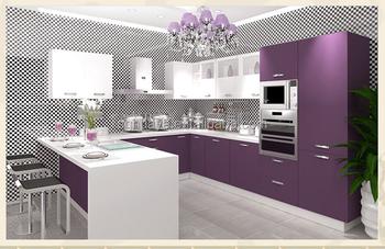 Modern New Design Modular Kitchen Cabinet Pvc Door Membrane - Buy ...