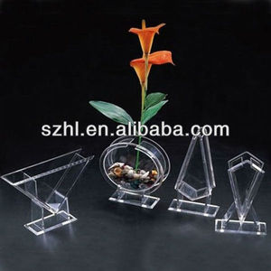 clear rectangle acrylic flower vases