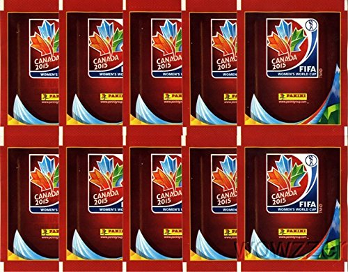 2015 Panini FIFA Women's World Cup Soccer Canada Lot of TEN(10) Factory Sealed Sticker Packs !