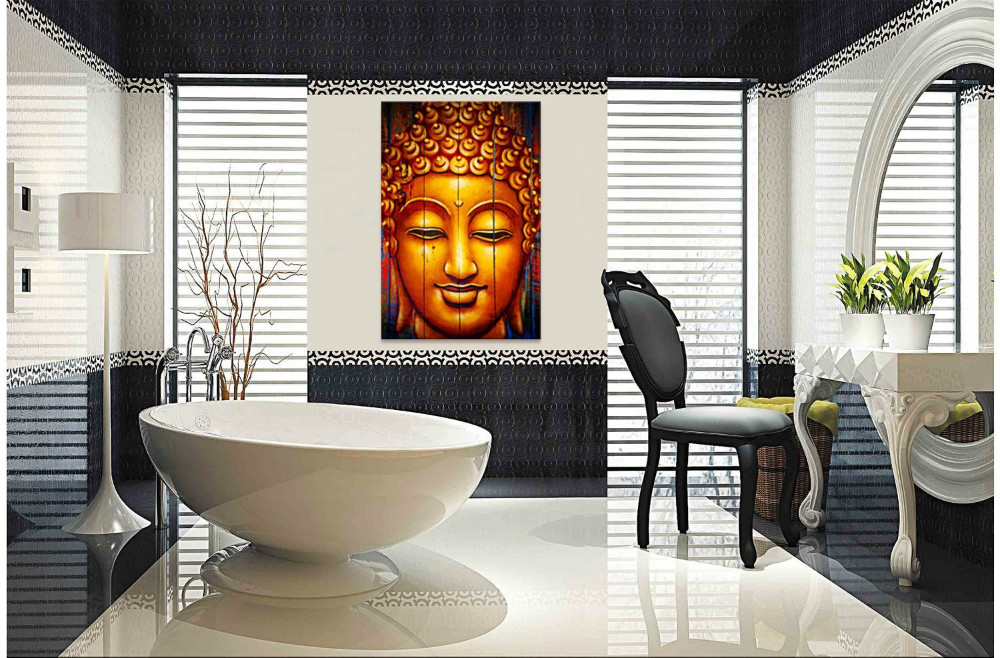 Classical Buddha Canvas Wall Art,Buddha Prints For Home Wall Decor Living  Room Artwork