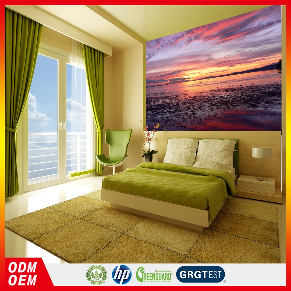 Decorative Wallpaper Sunset Scenery Cocount Beach Wallpaper 3d ...