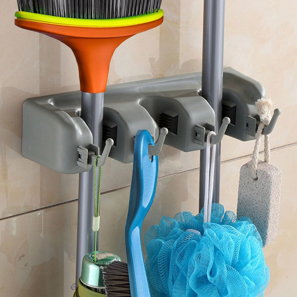 Buy Mop Broom Dusters And Tool Holder For Garage Garden