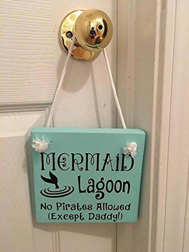 Mermaid Lagoon | Wooden | Nursery | Girl's Room | Door Sign | Hanger