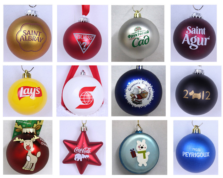 Clear Plastic Christmas Ball Glitter Balls Xmas tree decorations
