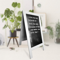 Seatrend A-frame Double-sided Display Blackboard Outdoor Sandwich Menu Board magnetic Notice Board Easy Erase Writing Surface