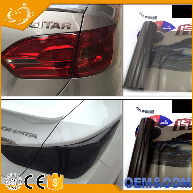 Self Adhesive Headlight / Tail Lights / Fog Lights Tint Cast Vinyl Film