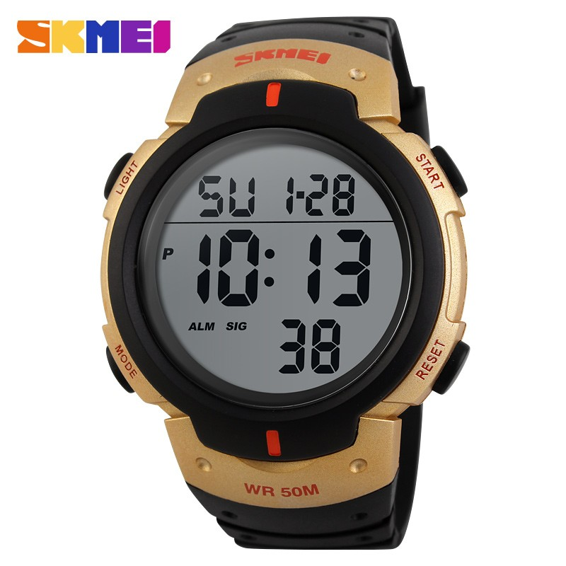 Skmei 1068 Luxury Brand Sports Watches Dive 50m Digital LED Military Watch Men Clock Fashion Casual Electronics Wristwatches
