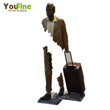 Metal Craft Life Size Bronze Statue Bruno Catalano Sculpture