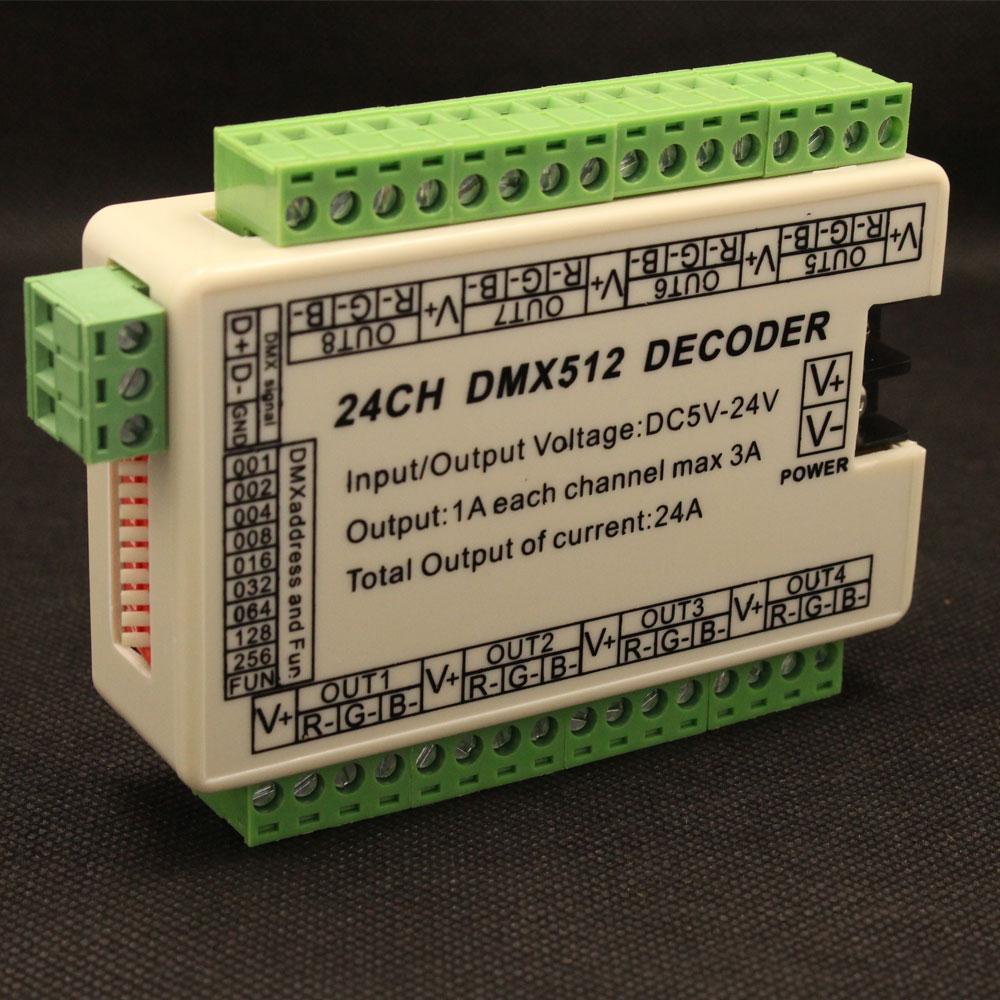 24ch 24a Mini Dmx512 Led Decoder